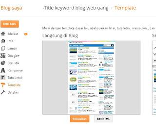 Gambar 2.9 Halaman Edit HTML