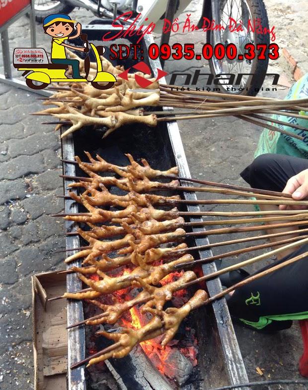 Chan ga nuong - Ship do an dem Da Nang