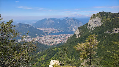 View over Lecco and Como.