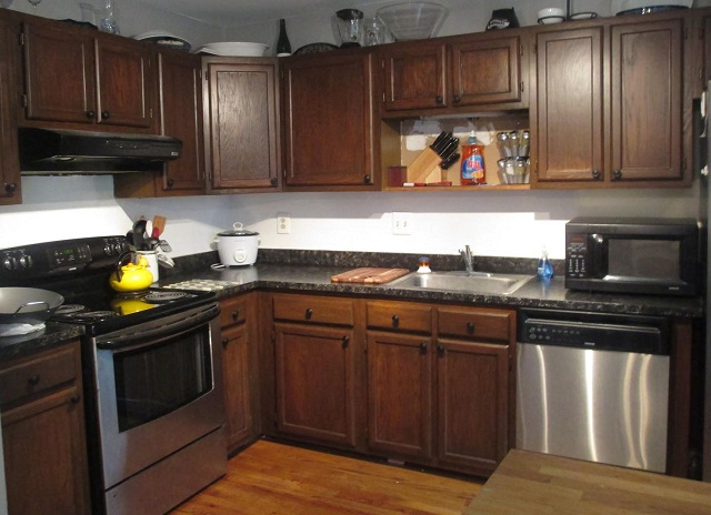 Restaining Cabinets for Kitchen - AyanaHouse