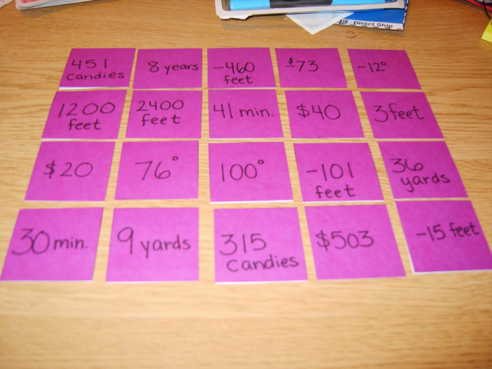 A Sea Of Math Integer Word Problem Practice With My Twist