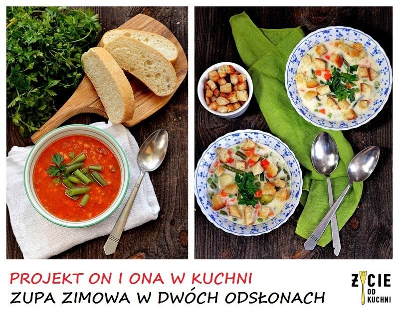 zupa zimowa, bukiet jarzyn poltino, poltino, zupa, grzanki