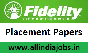 Fidelity Placement Papers