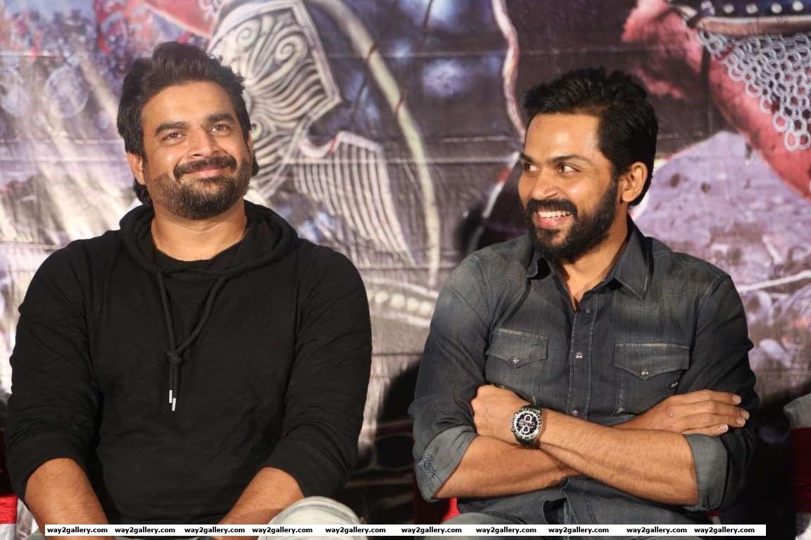 Madhavan attended the audio launch of Tamil film Kaashmora