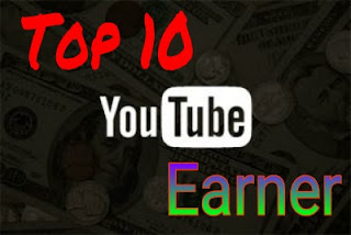 Top 10 YouTube earner