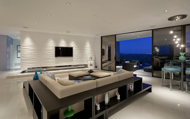 Modern living room with contemporary firniture