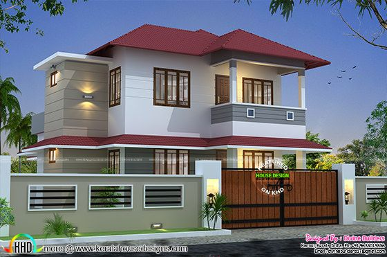 1730 sq-ft 3 bedroom modern house