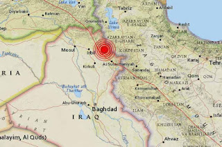 An earthquake measuring 7.2 hits southeast Sulaimaniya in Iraq