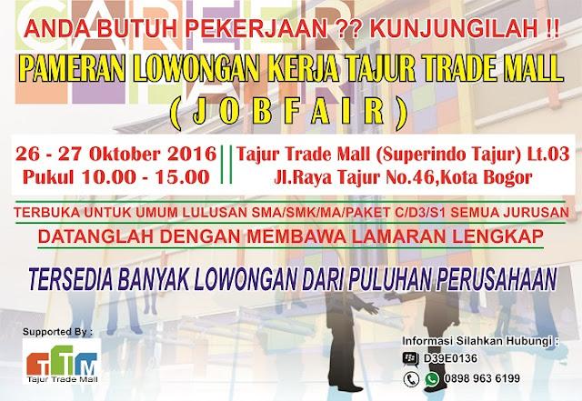 Jadwal Job fair Bogor terlengkap 2016 - 2017