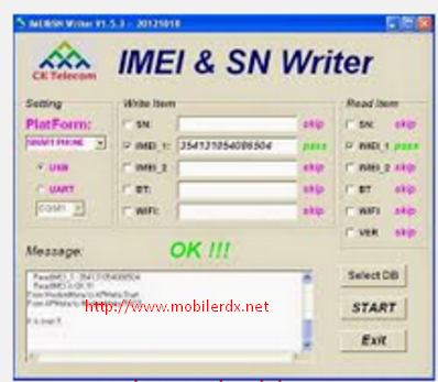 imei Sn Writer Tool Software Updated VR3.0.0001 Free Download