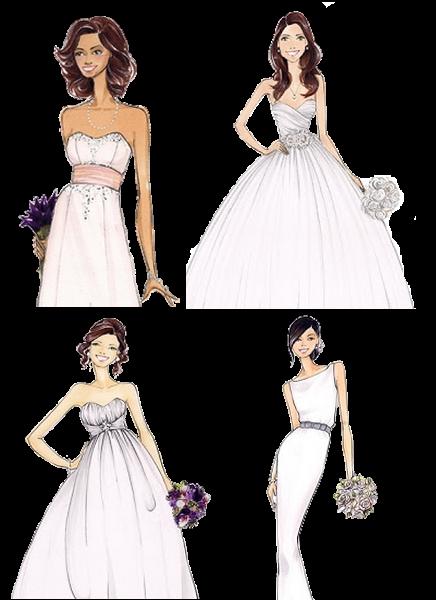 Download de desenhos de noivas em formato PNG