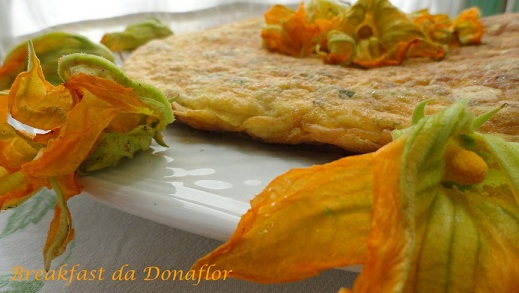 Donaflor  Frittata ai fiori di zucchine