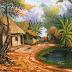 Tranh sơn dầu nhà lá