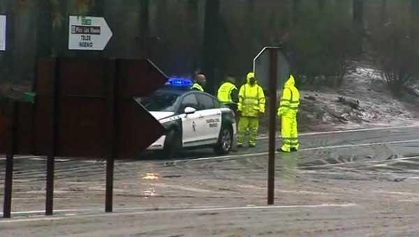 Varias carreteras  han sido cortadas por heladas en Gran Canaria y Tenerife, lunes 29 enero