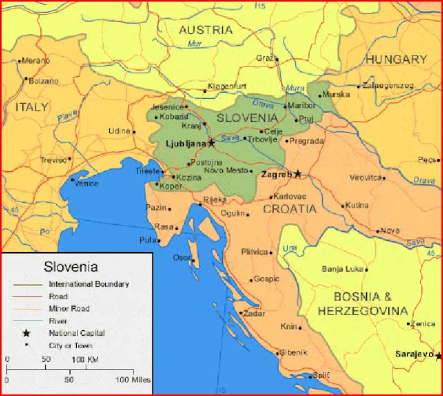 image: Slovenia Map High Resolution