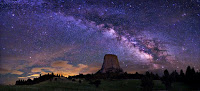 Milky Way Galaxy Devils Tower