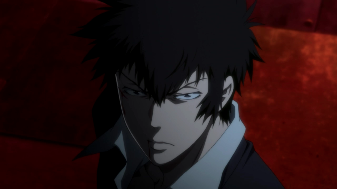 Kogami and his steely gaze