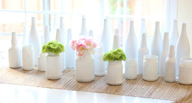 ideas para decorar botellas de vidrio
