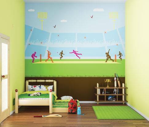 لون جدار حائط غرفة نوم طفل ولد