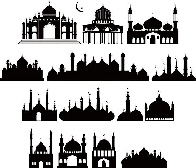 Siluet Masjid Vector  Desain Jempol y