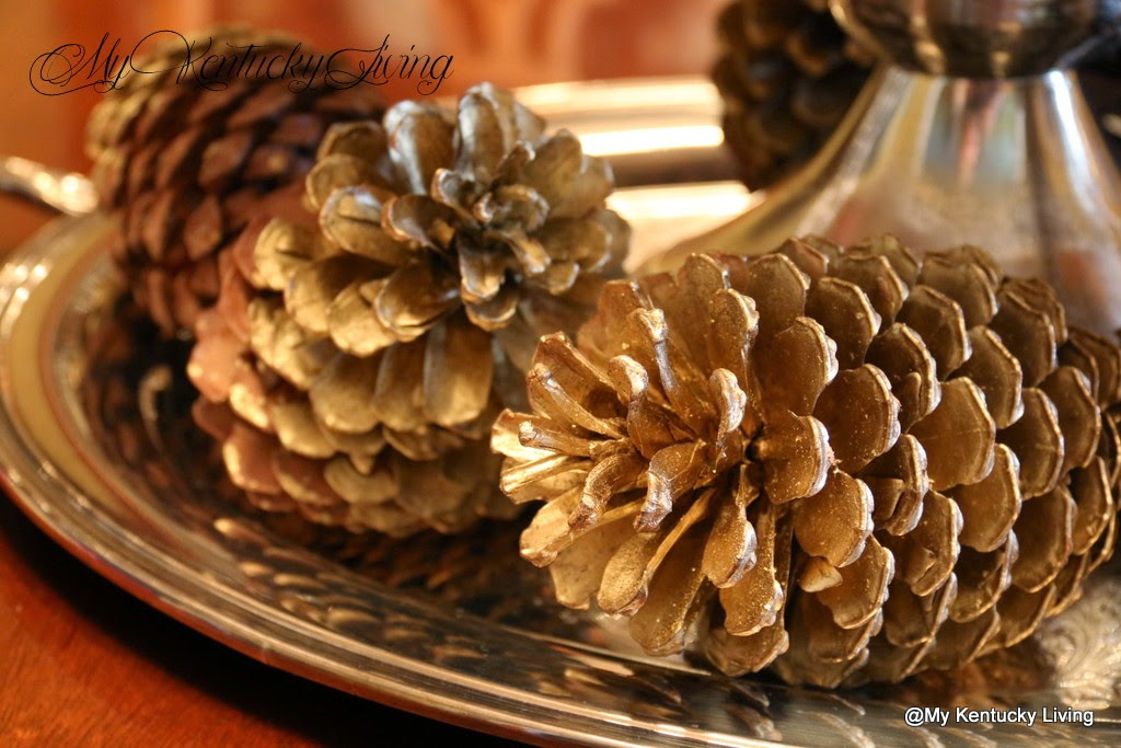 Decorating with pine cones