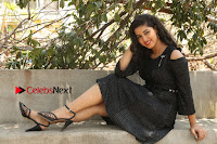 Telugu Actress Pavani Latest Pos in Black Short Dress at Smile Pictures Production No 1 Movie Opening  0095.JPG