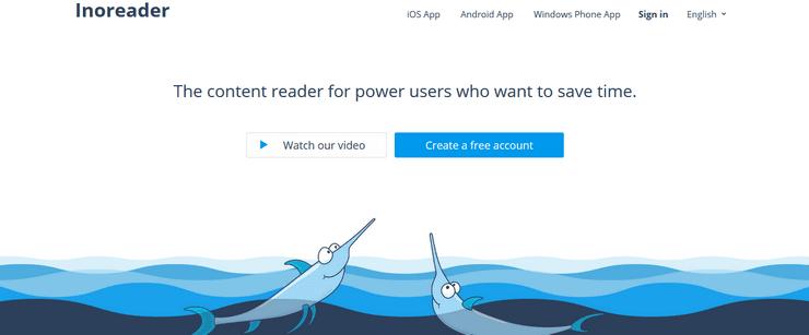 Inoreader feed reader