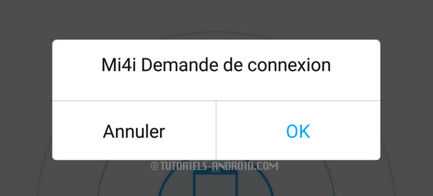 CloneIt : autoriser la demande de connexion entre deux mobile Android