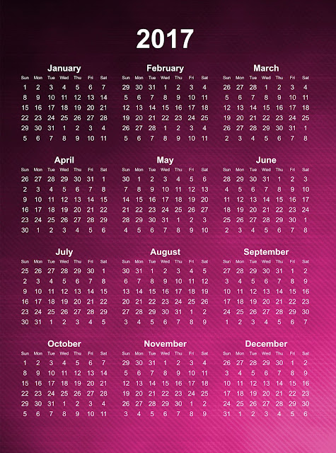 2017 calendar images