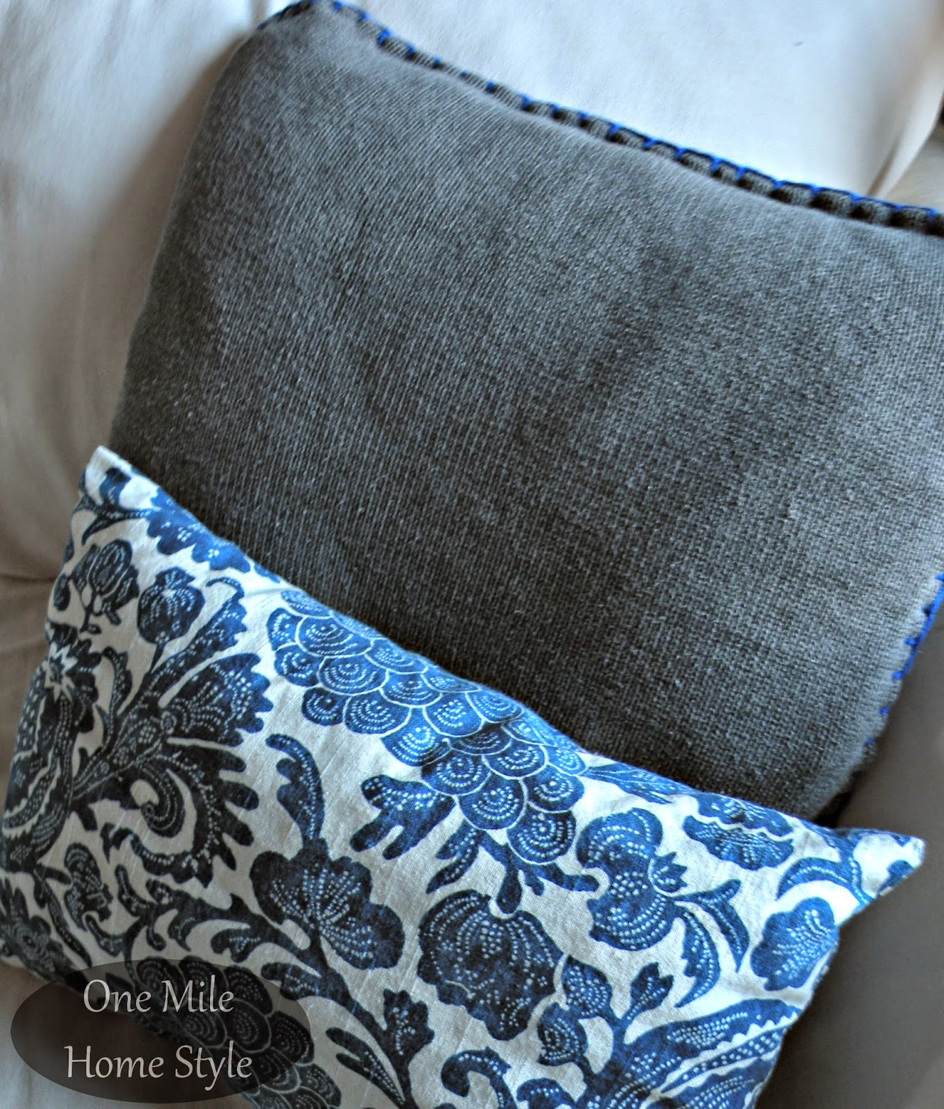 DIY Sweater Pillow from a thrift store sweater