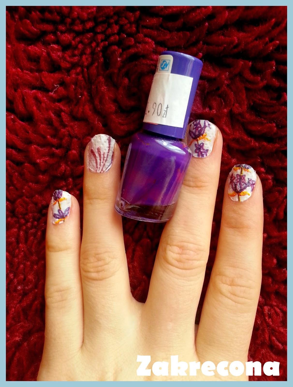 Print nails. Lavender