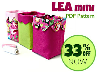 Lea mini fabric bin. Perfect for small item storage on your kitchen counter, or in a craft room.