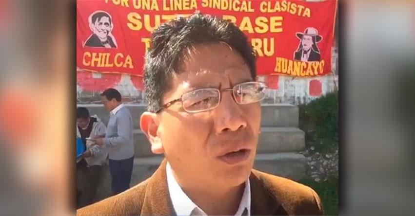 SUTEP Junín suspende diálogo con la DREJ