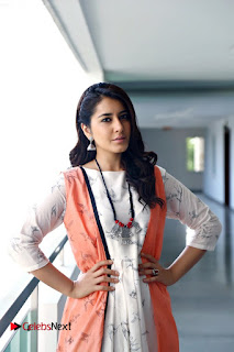 Actress Raashi Khanna Pictures in White Long Dress  0004.JPG
