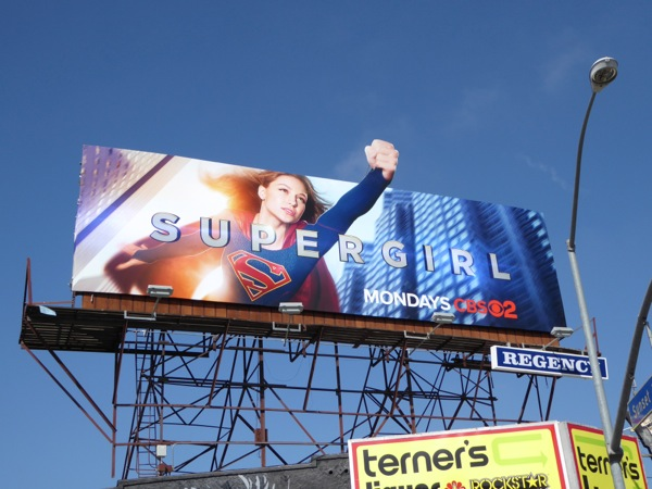 Supergirl special extension billboard Sunset Strip