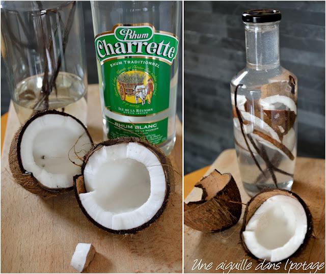 Rhum arrangé coco vanille/ rhum charrette