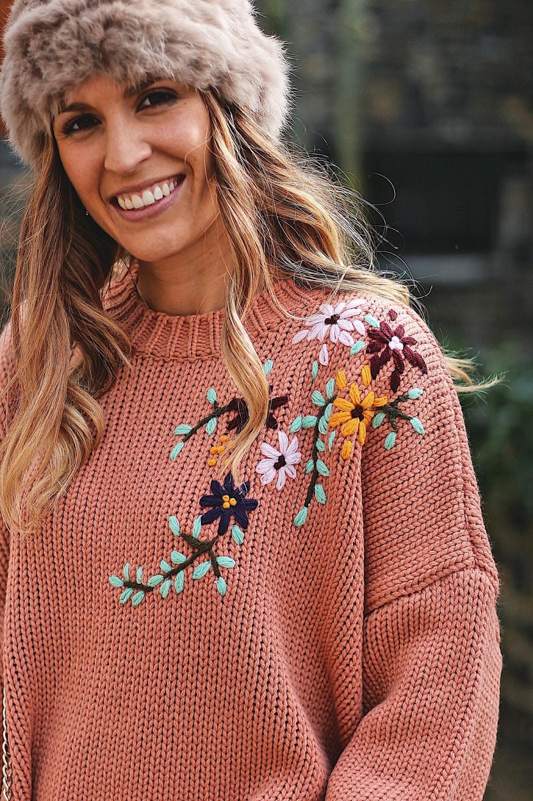 jersey bordado flores