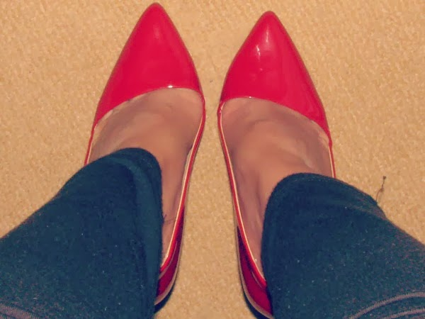Rote Pumps von Buffalo London