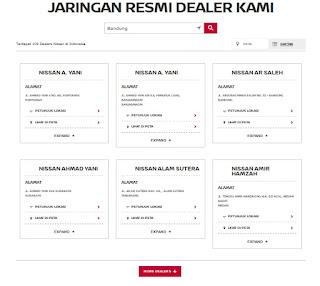 daftar lokasi dealer mobil nissan