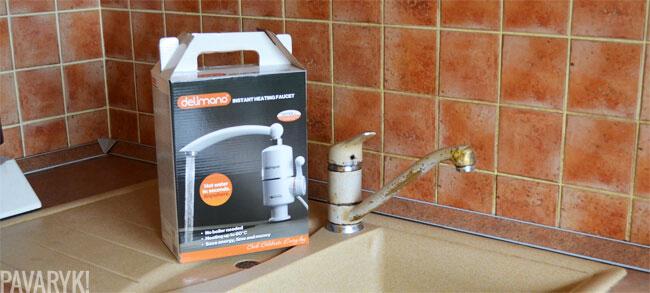 Vandens šildytuvas ir vandens maišytuvas
