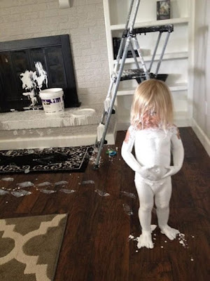 never leave a toddler alone meme