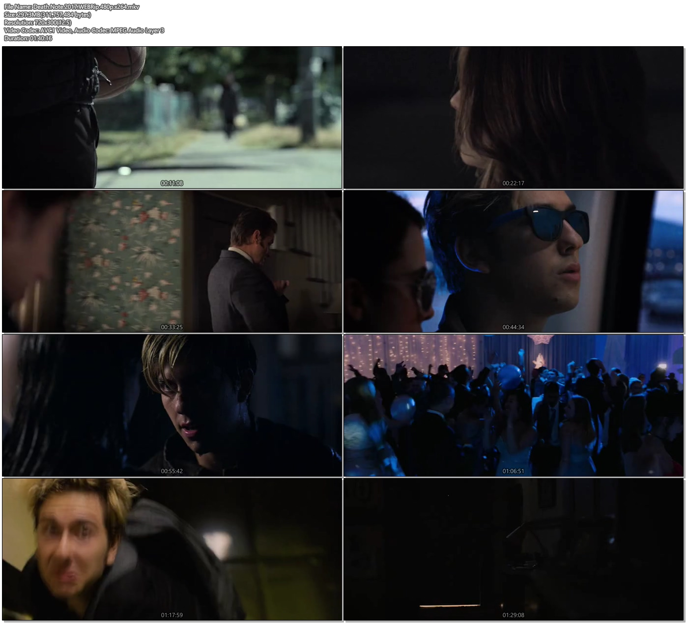Death Note 720p: Death Note 2017 WEBRip 480p 297MB X264 300MB Movie