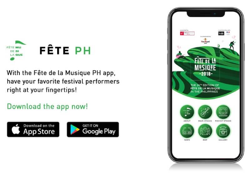 Fête PH App Now Available for Fête De La Musique 2018