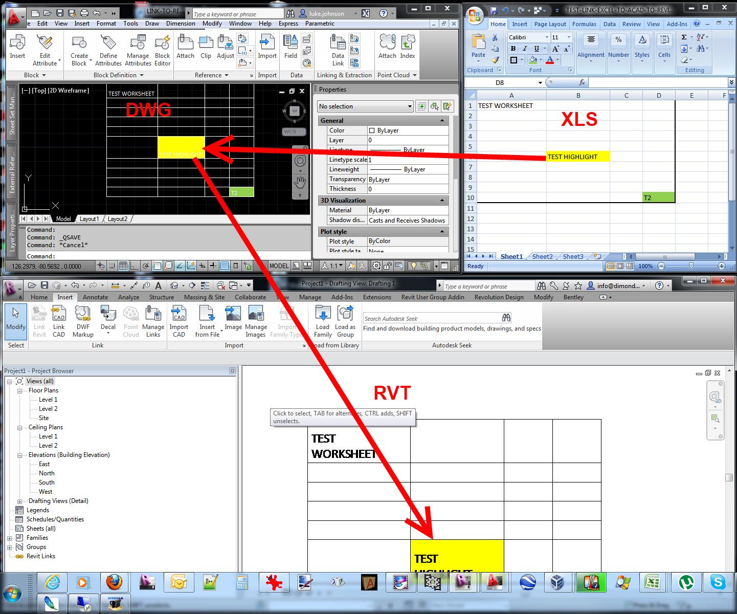 Lien K T D Li U B Ng Tinh Excel Vao Revit