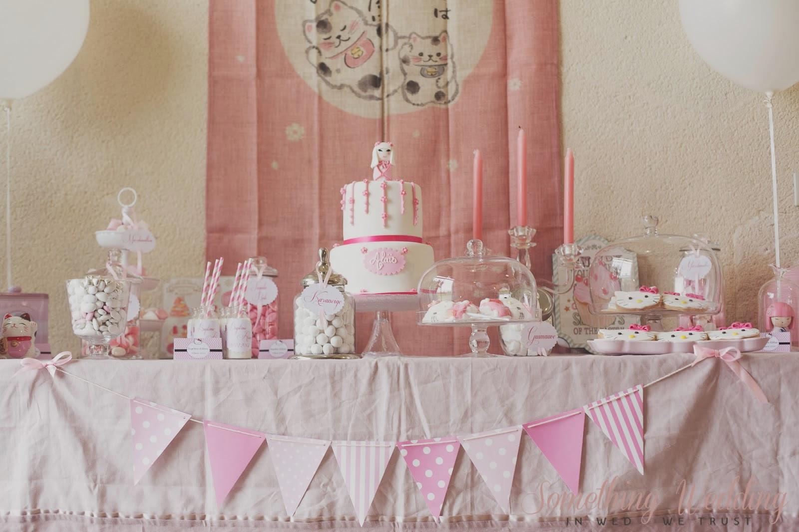 sweet table rose bapt me d 39 ala s le candy bar. Black Bedroom Furniture Sets. Home Design Ideas
