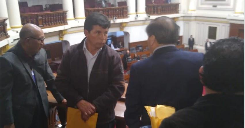 PEDRO CASTILLO: Dirigente reaparece en el Congreso y amenaza con una nueva huelga magisterial