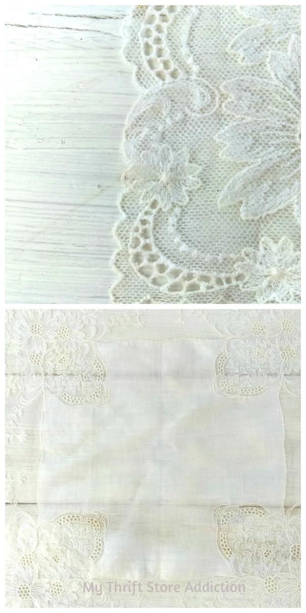 vintage lace bridal hankie