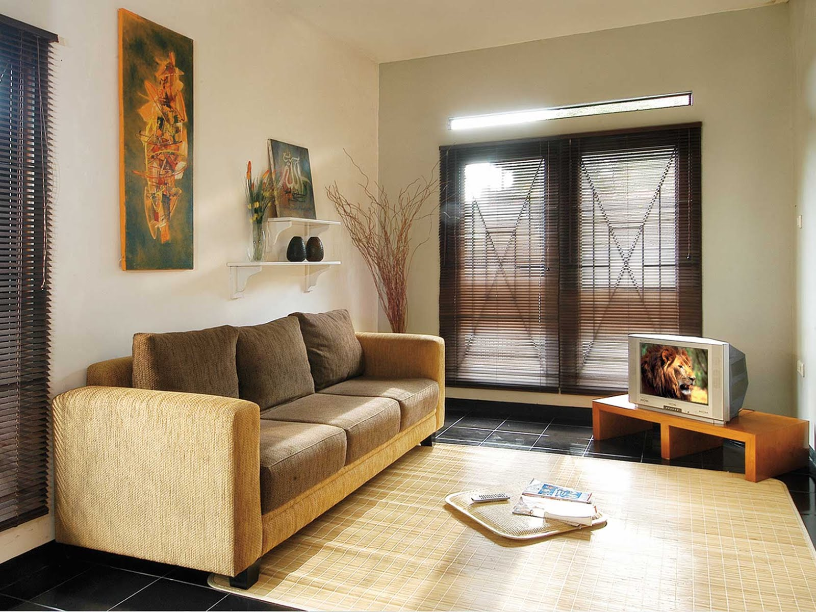 Design Ruang Tamu Lesehan Sederhana