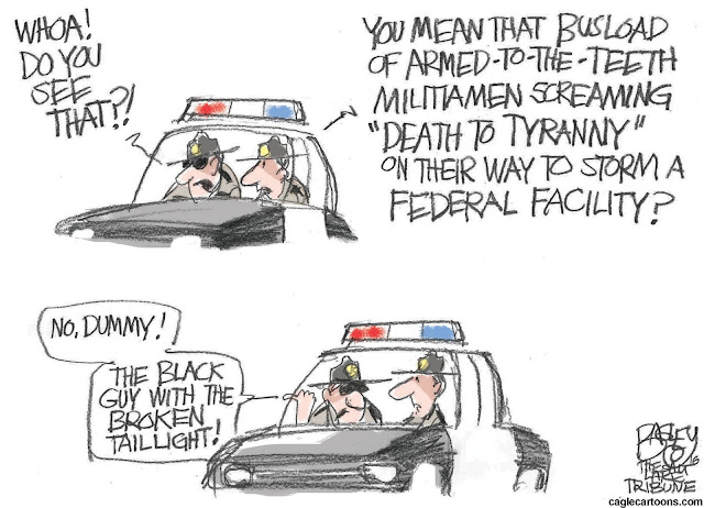 Two cops in a patrol car.  One asks,