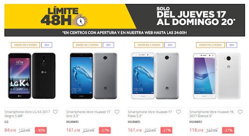Mejores móviles Límite 48 Horas El Corte Inglés